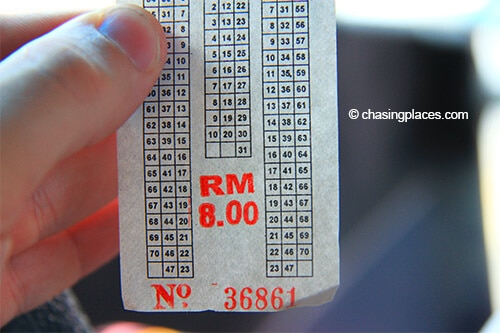 The total bus fare from Dungun to Kuala Terengganu was 8 RM at the time of travel.