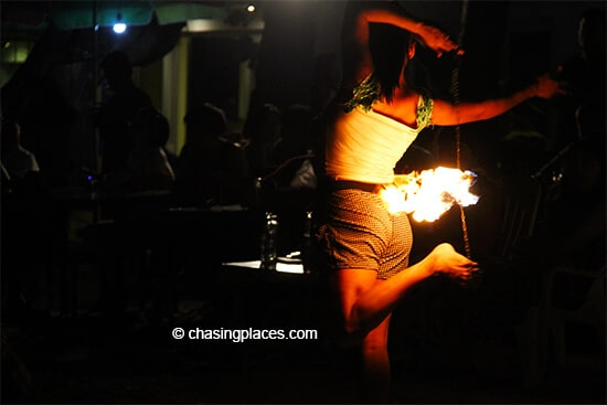 There is no shortage of entertainment along White Beach on Boracay Island