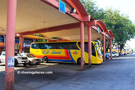 Typically, there is only 1 or 2 buses waiting at Cukai's small Bus Terminal.