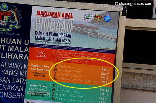Expect to pay a 5 RM conservation fee at the Shahbandar Jetty