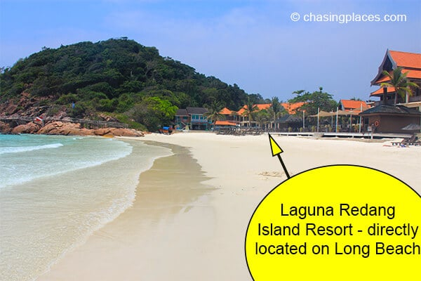 Laguna Redang Island Resort is directly located on Long Beach.