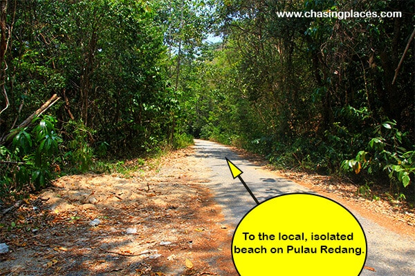 You can either walk or take ride a moto to the isolated beach near Kampung Baru