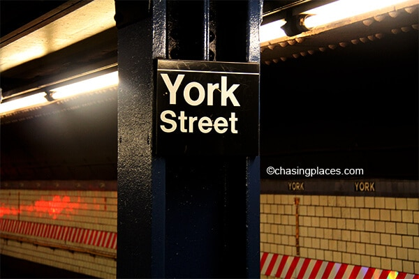 Make your way to York St. Station if you want to walk the Brooklyn Bridge