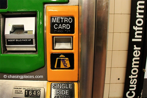 You will have the choice of getting a Metro Card or a single journey ticket
