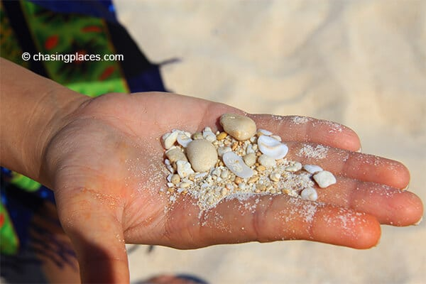 Puka Beach is well regarded for its beautiful shells and white sand