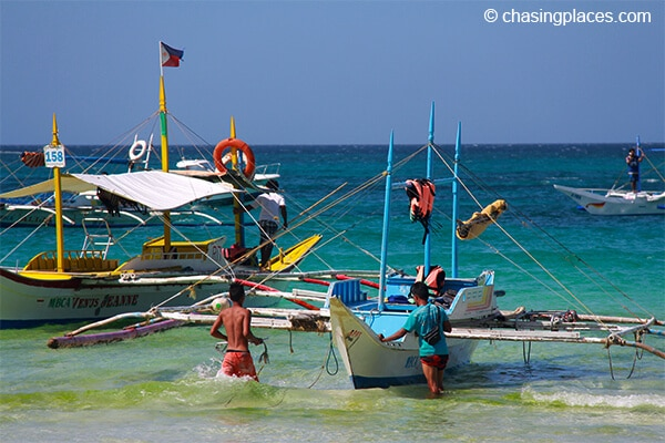 The traditional Bangka is the boat of choice for many tours around Boracay.