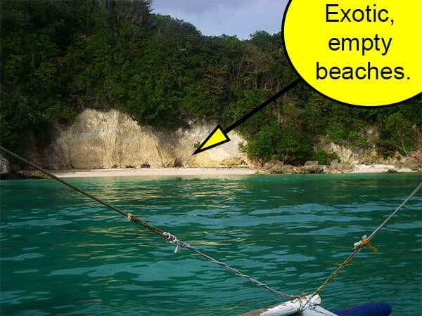 You might want to ask your tour guide to stop at one of the pristine beaches during your tour.