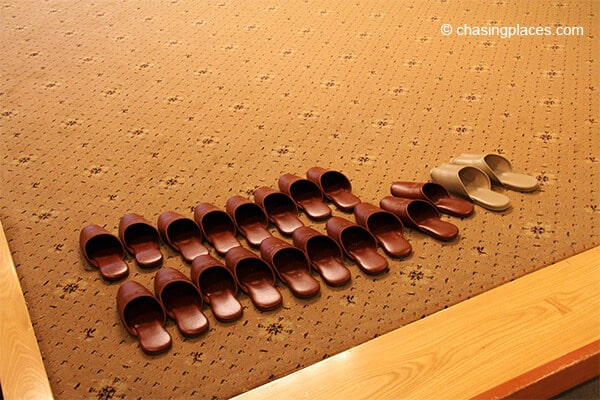 Each guest at our ryokan was provided with a pair of slippers upon checking in