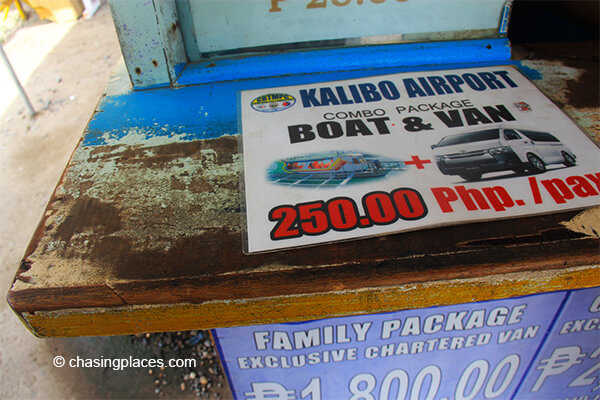 Expect to see different packages available to get from boracay to Kalibo Airport