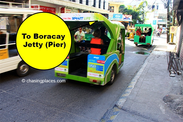 Take a tricycle when you are leaving Boracay for Kalibo Airport