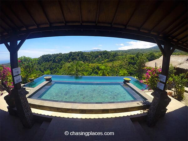 One of Rinjani Lodges awesome infinity pools
