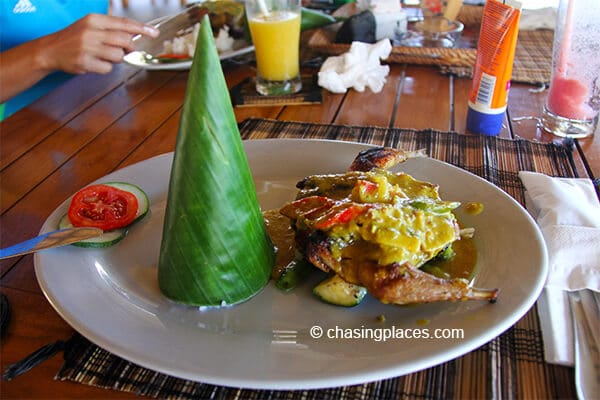 One of the lunches at Rinjani Lodge, Senaru Lombok