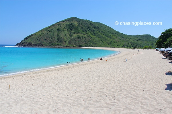 One of the stunning beaches found in the Kuta area, Lombok Island.