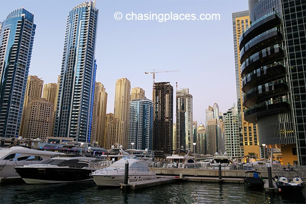 The famous Dubai Marina during the day